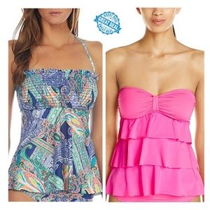 New Lot of 2 Kenneth Cole Reaction Tankini Top S
